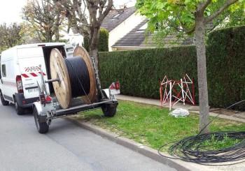 Déroulage et tirage de câble